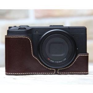 CIESTA シエスタ RICOH GR2/GR おしゃれ レザー カメラケース Dark Brown 高級 高品質 本革 リコー|nineselect|02