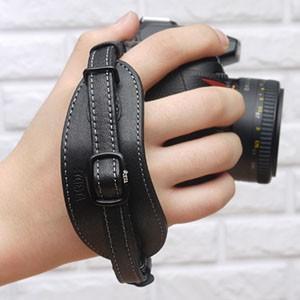 CIESTA シエスタ Leather Hand Grip おしゃれ 本革 カメラ ハンドグリップ プレート付き CSS-HG01 BLACK デジタル一眼レフ用 nineselect