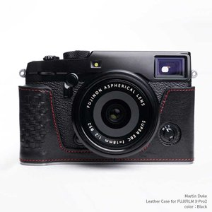 Martin Duke Italian Leather Camera Body Case for FUJIFILM X-Pro2 Black おしゃれ 本革 イタリアンレザー カメラケース|nineselect