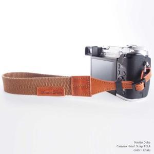 『クリックポストOK!』Martin Duke Camera Hand Strap TELA DH21KH Khaki カーキ おしゃれ カメラハンドストラップ リストストラップ コットン イタリアンレザー|nineselect