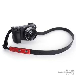 Martin Duke Camera Neck Strap PRVI personality DN33BK Black おしゃれ カメラネックストラップ カメラストラップ 本革 牛革 レザー|nineselect