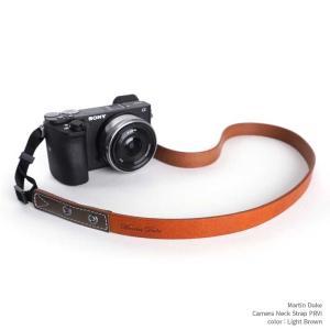 Martin Duke Camera Neck Strap PRVI personality DN33LB Light Brown おしゃれ カメラネックストラップ カメラストラップ 本革 牛革 レザー|nineselect