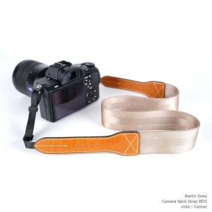 Martin Duke Camera Neck Strap REIS DN41AB Carmel おしゃれ カメラネックストラップ カメラストラップ ナイロン イタリアンレザー|nineselect