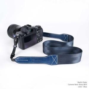 Martin Duke Camera Neck Strap REIS DN41NB Blue レッド おしゃれ カメラネックストラップ カメラストラップ ナイロン イタリアンレザー|nineselect