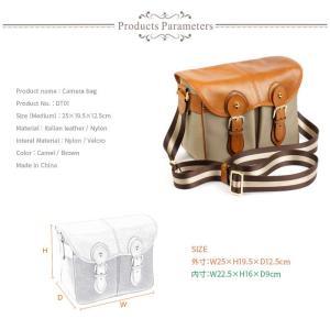 Martin Duke Camera bag SVEN Madium 2colors Camel/Brown DT01 おしゃれ ショルダー カメラバッグ  ナイロン イタリアンレザー 男女兼用|nineselect|04