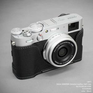 LIM'S FUJIFILM X100V 専用 イタリアンレザー カメラケース Black ブラック おしゃれ メタルプレート リムズ 日本正規販売店 FJ-X100VBK|nineselect