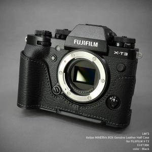 LIM'S リムズ Italian MINERVA Genuine Leather Half Case for FUJIFILM X-T3 FJ-XT3BK Black フジフイルム 本革 カメラケース|nineselect