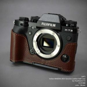LIM'S リムズ Italian MINERVA Genuine Leather Half Case for FUJIFILM X-T3 FJ-XT3BR Brown フジフイルム 本革 カメラケース|nineselect