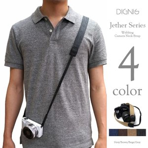 Dignis ディグニス Webbing Camera Neck Strap カメラ ネックストラップ 斜めがけ OK Jether 4colors|nineselect