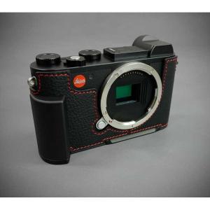 『ご予約受付中』LIM'S リムズ Italian Genuine Leather Metal grip Half Case for Leica CL LC-CL1BK Black ブラック ライカ CL用 おしゃれ 本革 カメラケース|nineselect|04