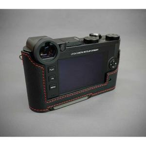 『ご予約受付中』LIM'S リムズ Italian Genuine Leather Metal grip Half Case for Leica CL LC-CL1BK Black ブラック ライカ CL用 おしゃれ 本革 カメラケース|nineselect|05