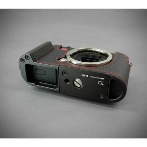 『ご予約受付中』LIM'S リムズ Italian Genuine Leather Metal grip Half Case for Leica CL LC-CL1BK Black ブラック ライカ CL用 おしゃれ 本革 カメラケース|nineselect|07
