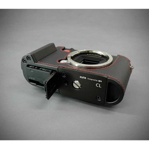『ご予約受付中』LIM'S リムズ Italian Genuine Leather Metal grip Half Case for Leica CL LC-CL1BK Black ブラック ライカ CL用 おしゃれ 本革 カメラケース|nineselect|08