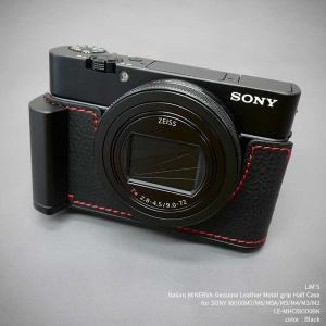 訳あり品 LIM'S SONY RX100M7/M6/M5A/M5/M4/M3/M2 用 レザー カメラケース Black ブラック LE-MHCRX100BK|nineselect