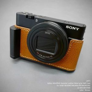 訳あり品 LIM'S SONY RX100M7/M6/M5A/M5/M4/M3/M2 用 レザー カメラケース Brown ブラウン LE-MHCRX100BR|nineselect