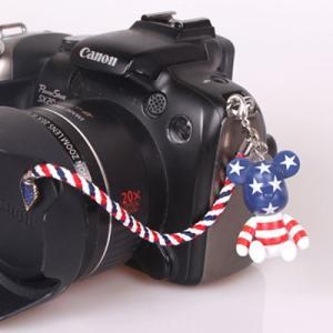 『スマートレターOK!』レンズキャップ ストラップ 11cm アメリカ lens cap strap 紛失防止 クマ型 フィギュア ベア おしゃれ かわいい カメラ女子|nineselect