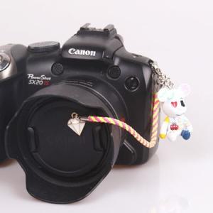 『スマートレターOK!』レンズキャップ ストラップ 11cm 絵日記 ダイヤ lens cap strap 紛失防止 クマ型 フィギュア ベア おしゃれ かわいい カメラ女子|nineselect