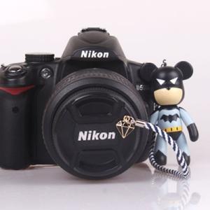 『送料無料』レンズキャップ ストラップ 11cm バットマン ダイヤ lens cap strap 紛失防止 クマ型 フィギュア ベア おしゃれ かわいい カメラ女子|nineselect
