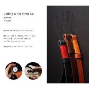 mi81 Coiling Wrist Strap 1.0 MH202 3colors ヒモ タイプ おしゃれ 本革 レザー リストストラップ カメラストラップ ハンドメイド|nineselect|02