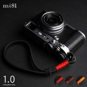 mi81 Coiling Wrist Strap 1.0 MH205 3colors 丸リング タイプ おしゃれ 本革 レザー リストストラップ カメラストラップ ハンドメイド|nineselect