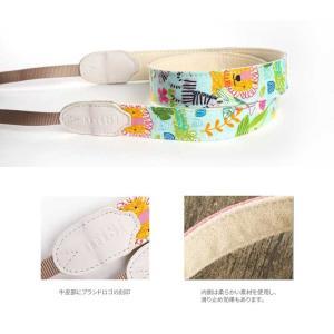 mi81 Printed cotton Neck Strap MN019CA Colorful Animals カメラストラップ ネックストラップ おしゃれ かわいい 柄 ミラーレス カメラ女子|nineselect|03