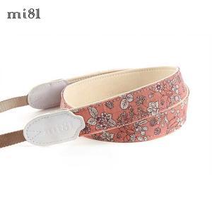 mi81 Printed cotton Neck Strap MN025PG Pink Garden カメラストラップ ネックストラップ おしゃれ かわいい 柄 ミラーレス カメラ女子|nineselect