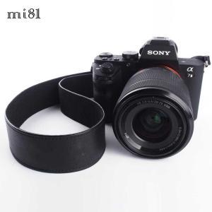 mi81 Leather Neck Strap 3.7 MN201BK Black おしゃれ 本革 カメラネックストラップ カメラストラップ Camera Strap 牛革 ミラーレス カメラ カメラ女子|nineselect