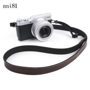 mi81 Leather Neck Strap 1.5 MN204DB Dark Brown おしゃれ 本革 カメラネックストラップ カメラストラップ Camera Strap 牛革 ミラーレス カメラ カメラ女子|nineselect