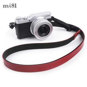 mi81 Leather Neck Strap 1.5 MN204WR Dark Red おしゃれ 本革 カメラネックストラップ カメラストラップ Camera Strap 牛革 ミラーレス カメラ カメラ女子|nineselect