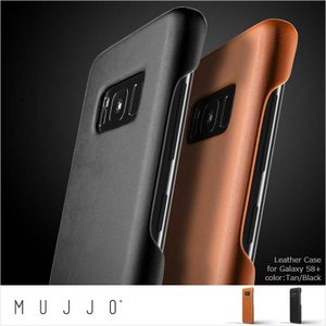 Galaxy S8+ 用レザーケース MUJJO Leather Case for Galaxy S8 Plus 2colors Tan Black シンプル おしゃれ 本革ケース 並行輸入品|nineselect