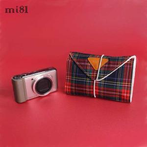 クリックポストOK! カメララップ mi81 Cotton Printed Wrap Tartan MW03TA 包む コンパクト デジタルカメラ おしゃれ かわいい マルチ 保護 カバー|nineselect
