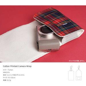 『クリックポストOK!』mi81 Cotton Printed Wrap Tartan MW03TA カメララップ 包む コンパクト デジタルカメラ おしゃれ かわいい マルチ 保護 カバー nineselect 02