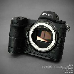 LIM'S Nikon Z7 Z6 専用 イタリアンレザー カメラケース Black ブラック おしゃれ 本革 ケース メタルプレート リムズ 日本正規販売店 NK-Z71BK|nineselect