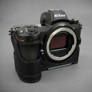 LIM'S Nikon Z7 Z6 専用 イタリアンレザー カメラケース Black ブラック おしゃれ 本革 ケース メタルプレート リムズ 日本正規販売店 NK-Z71BK|nineselect|02