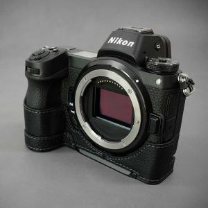 LIM'S Nikon Z7 Z6 専用 イタリアンレザー カメラケース Black ブラック おしゃれ 本革 ケース メタルプレート リムズ 日本正規販売店 NK-Z71BK|nineselect|03