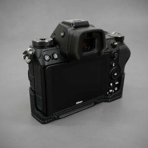 LIM'S Nikon Z7 Z6 専用 イタリアンレザー カメラケース Black ブラック おしゃれ 本革 ケース メタルプレート リムズ 日本正規販売店 NK-Z71BK|nineselect|04