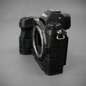 LIM'S Nikon Z7 Z6 専用 イタリアンレザー カメラケース Black ブラック おしゃれ 本革 ケース メタルプレート リムズ 日本正規販売店 NK-Z71BK|nineselect|06