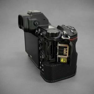 LIM'S Nikon Z7 Z6 専用 イタリアンレザー カメラケース Black ブラック おしゃれ 本革 ケース メタルプレート リムズ 日本正規販売店 NK-Z71BK|nineselect|07
