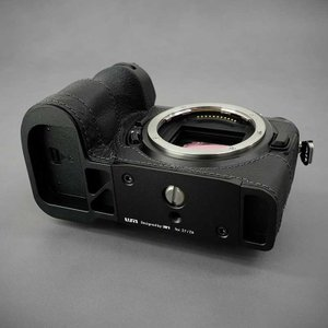 LIM'S Nikon Z7 Z6 専用 イタリアンレザー カメラケース Black ブラック おしゃれ 本革 ケース メタルプレート リムズ 日本正規販売店 NK-Z71BK|nineselect|08