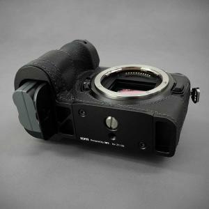 LIM'S Nikon Z7 Z6 専用 イタリアンレザー カメラケース Black ブラック おしゃれ 本革 ケース メタルプレート リムズ 日本正規販売店 NK-Z71BK|nineselect|09