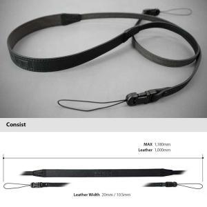 LIM'S Italian MINERVA Genuine Leather Neck Strap for Compact Camera NS-CC1BK Black コンパクトカメラ用 ネックストラップ nineselect 04
