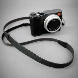 LIM'S Italian MINERVA Genuine Leather Neck Strap for Compact Camera NS-CC1BK Black コンパクトカメラ用 ネックストラップ nineselect 06