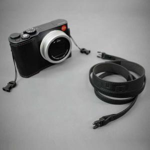 LIM'S Italian MINERVA Genuine Leather Neck Strap for Compact Camera NS-CC1BK Black コンパクトカメラ用 ネックストラップ nineselect 07
