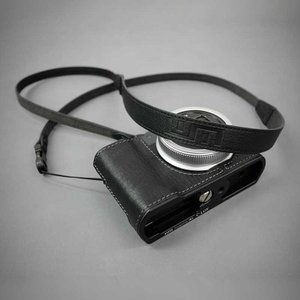 LIM'S Italian MINERVA Genuine Leather Neck Strap for Compact Camera NS-CC1BK Black コンパクトカメラ用 ネックストラップ nineselect 08