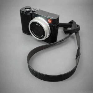 LIM'S Italian MINERVA Genuine Leather Neck Strap for Compact Camera NS-CC1BK Black コンパクトカメラ用 ネックストラップ nineselect 09