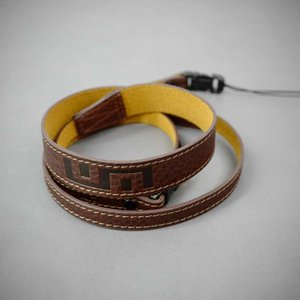 LIM'S Italian MINERVA Genuine Leather Neck Strap for Compact Camera NS-CC1BR Brown コンパクトカメラ用 ネックストラップ|nineselect