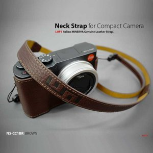 LIM'S Italian MINERVA Genuine Leather Neck Strap for Compact Camera NS-CC1BR Brown コンパクトカメラ用 ネックストラップ|nineselect|02