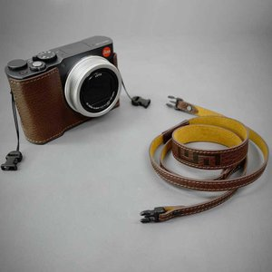 LIM'S Italian MINERVA Genuine Leather Neck Strap for Compact Camera NS-CC1BR Brown コンパクトカメラ用 ネックストラップ|nineselect|07