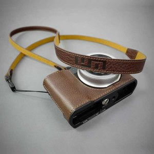 LIM'S Italian MINERVA Genuine Leather Neck Strap for Compact Camera NS-CC1BR Brown コンパクトカメラ用 ネックストラップ|nineselect|08