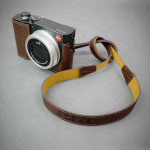 LIM'S Italian MINERVA Genuine Leather Neck Strap for Compact Camera NS-CC1BR Brown コンパクトカメラ用 ネックストラップ|nineselect|09